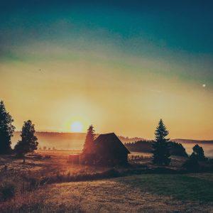 Západ slunce Orlické Hory
